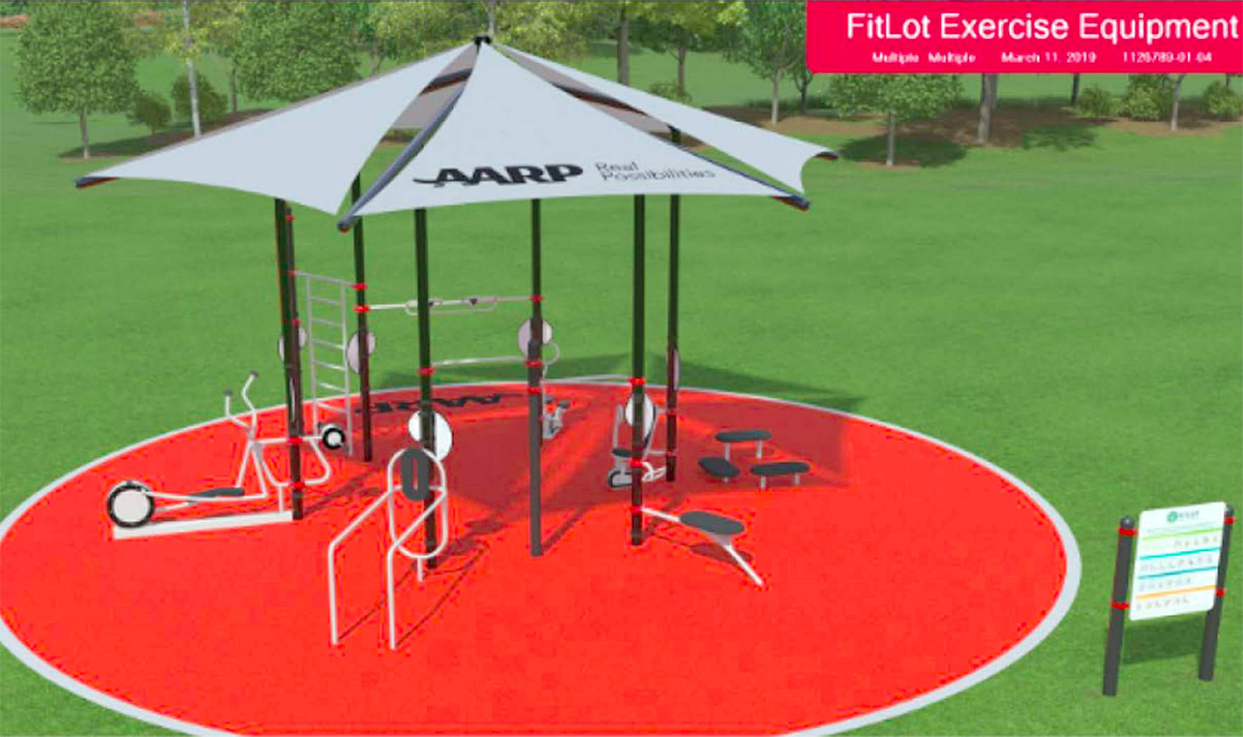 A design of the future Renton Fitlot park, funded by AARP. Photo courtesy of AARP.