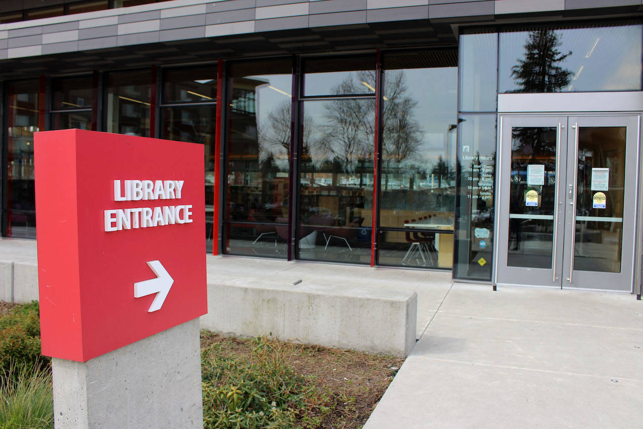 Entrance to the Tukwila Library branch of the King County Library System. File photo Tags